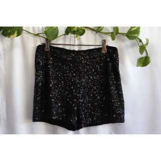 One Way Sequin Shorts Size 10