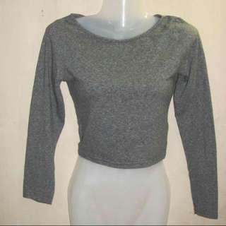 H&M grey crop sweater