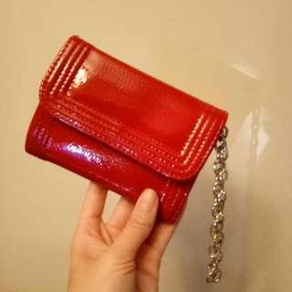 紅漆皮短夾