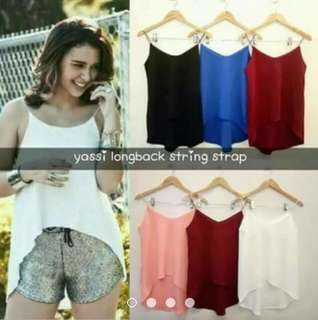 Yassi longback string top (onhand) (Thick fabric)