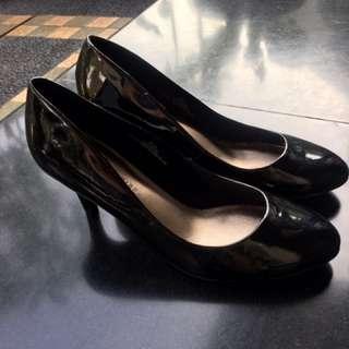 Mark And Spencer black Heels 7cm Size 41