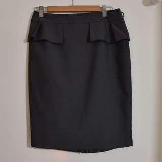 Portmans Grey Peplum Style Skirt