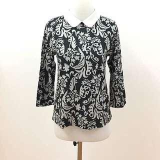 Collar Top Batik