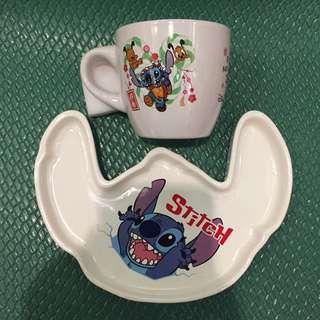 日本帶回史迪奇杯盤組