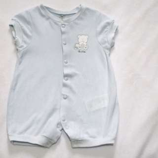 Chicco bodysuit/onesies powder blue 6 months