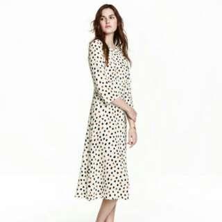 H&M Polka Dot Midi Dress EUR 40