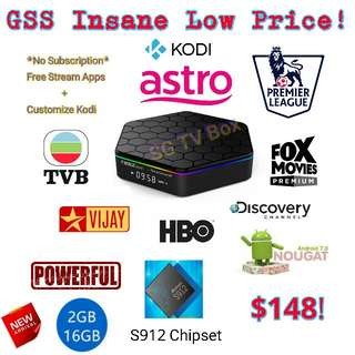 Most Latest Android marshmallow S912 Chip , Greatever T95Z Plus TV Box ( ( IPTV / ASTRO / Malaysia Channels / TV3 / Malay / TVB )