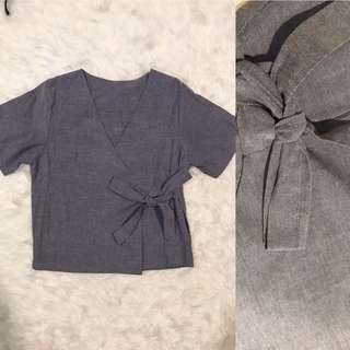 Grey Kimono Top