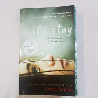 If I Stay Novel By Gayle Forman