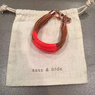 Sass And Bide Bracelet Bangle Neon Orange