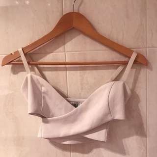 Sabo Skirt Criss Cross White Crop Top