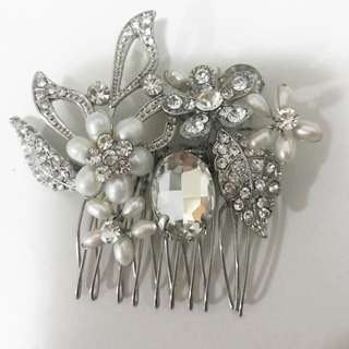 Diamond And Pearl Hair Clip Wedding Formal Dress