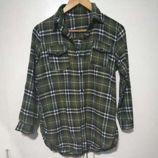 Green Plaid Longsleeves