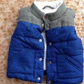 Size 3-6 month Baby Boy Winter Vest