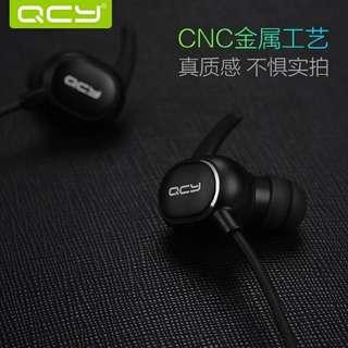 包平郵 全新 黑色 / 白色 原裝 QCY Q19 APT-X 高清音效 防汗水 運動 跑步 入耳式 藍牙耳機 4.1 重低音
