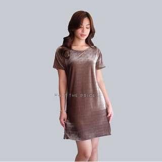 choco velvet dress