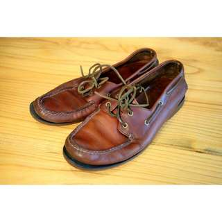 Repriced : Clark's Boater Shoes, Brown / Oxblood Size US 9.5 / EU 43.5