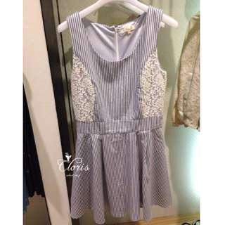 保證正品日牌MITSUMARU氣質條紋洋裝