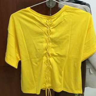 Stradivarius Shirt In Yellow