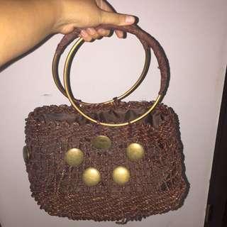 Tas Anyaman Vintage Antik Shoulder Bag Wanita Etnik