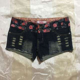 Distressed Maong Short