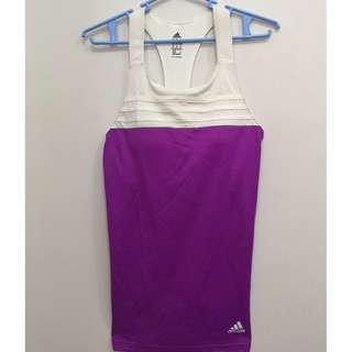 White and purple tank top