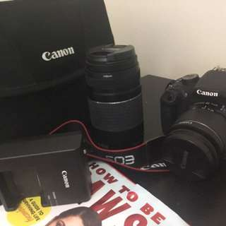 Canon EOS Rebel T5 18-55mm IS + EF 75-300mm lens + Carrying Bag