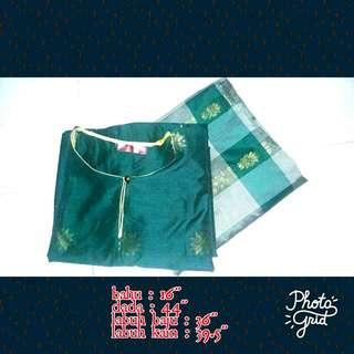 Baju Kurung Songket Hijau