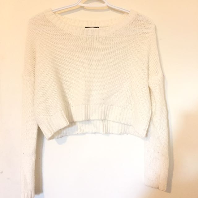 2FOR1** Black and/or White Knit Long Sleeve Crop Tops