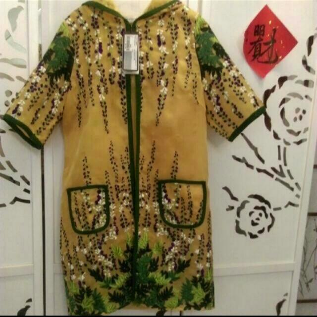 全新LORANZO RAMANZA 外罩式刺繡外套