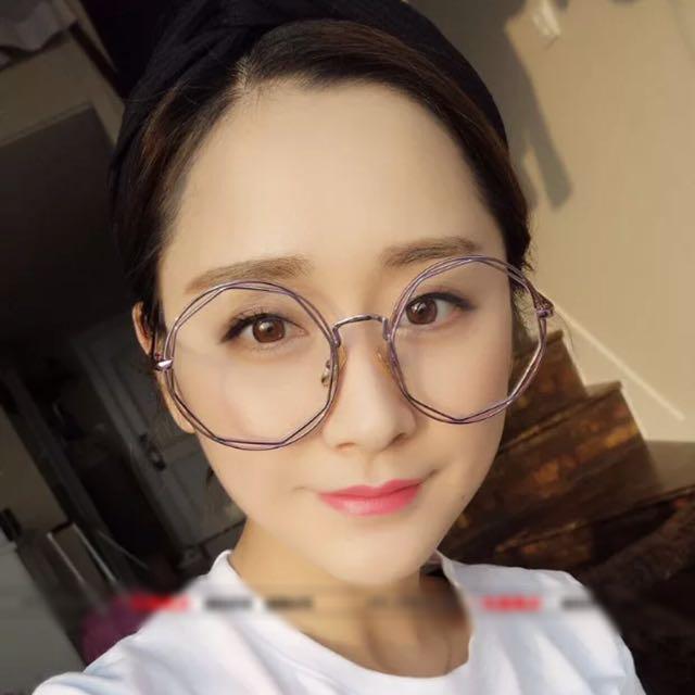 特殊 簍空 大圓 鏡框 眼鏡