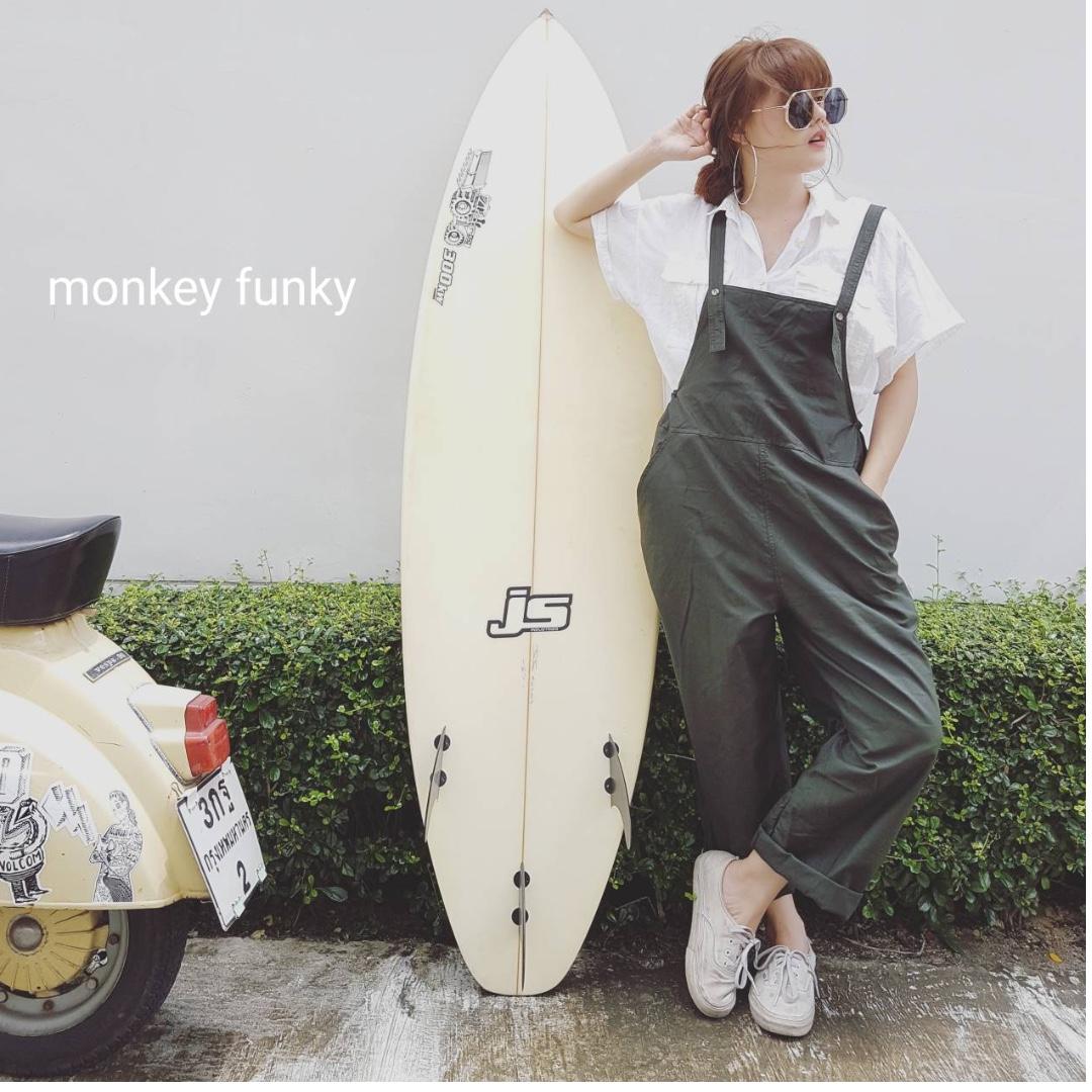 [預購] 泰國設計師品牌 Monkey Funky 俏皮風連身吊帶褲 (加臉書社團再折50元)