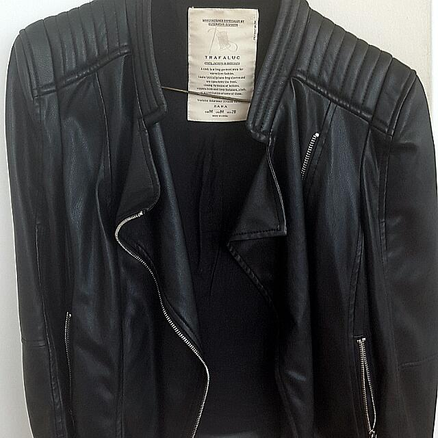 * ZARA Leather Jacket* Size M/L