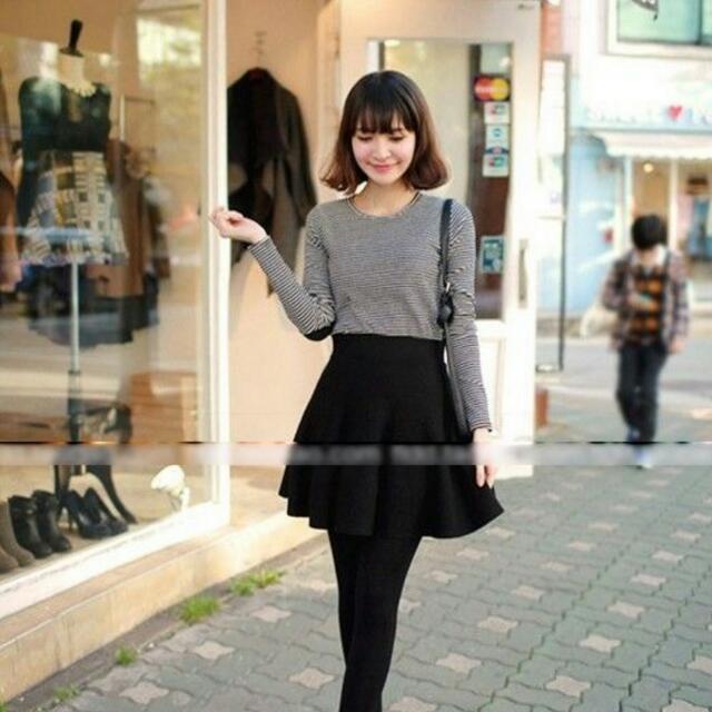 High Waisted Mini Skirt - Black