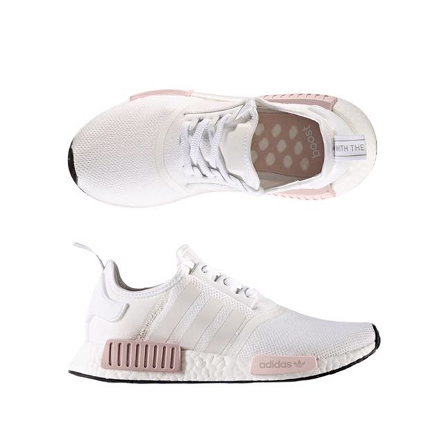Adidas Nmd R1 White Rose Women S Fashion Shoes On Carousell