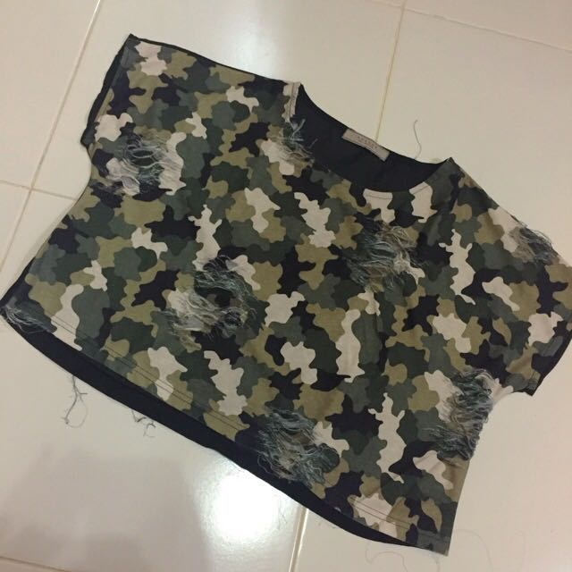 Avenue Army Croptee