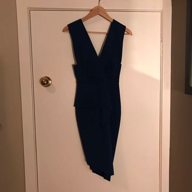 BEC AND BRIDGE Sea Blue Knee Length Bodycon Dress