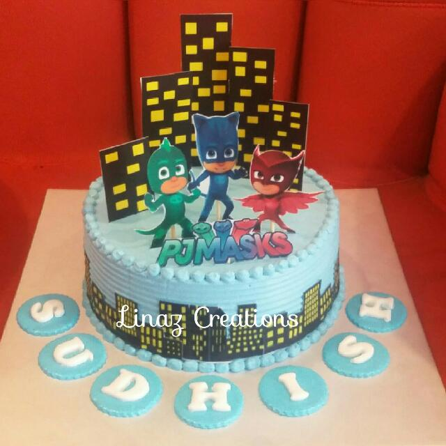 1kg Pj Mask Birthday Cakes Food Drinks Baked Goods On Carousell
