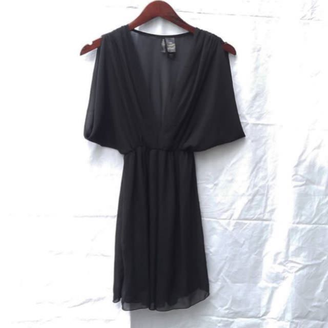 Bisou Bisou Black Chiffon Dress