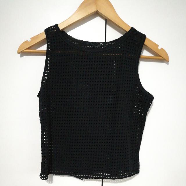 Black Net Top