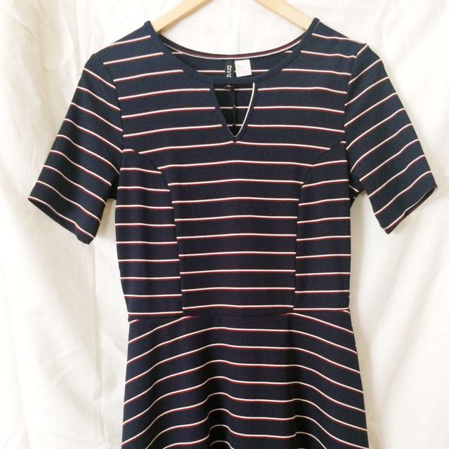 Blue Stripes Mini Dress - Divided by H&M