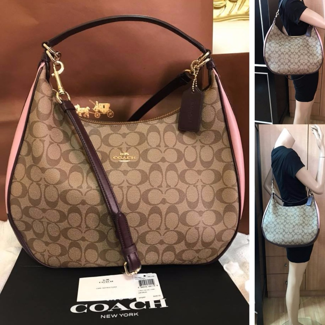 ... coupon for bnwt authentic coach harley hobo in color block signature  handbag f57491 luxury bags wallets authentic coach harley east west ... 34a072c419695
