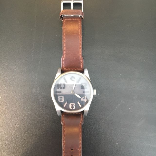 Brown Leather Rip Curl Watch