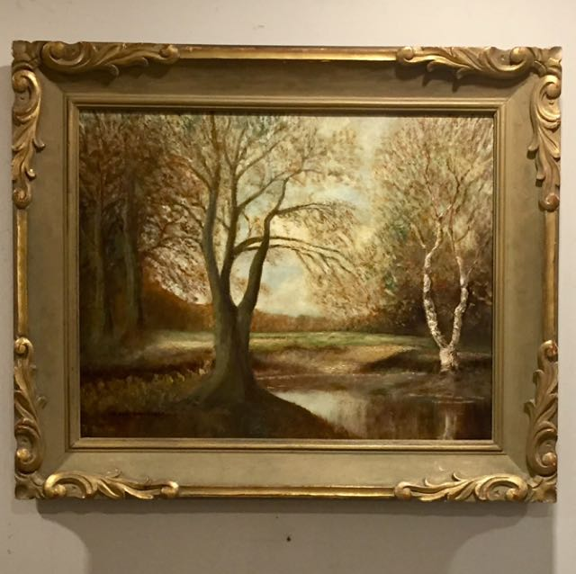 Canadian Listed Oil Antique Painting Frank Shirley Panabaker