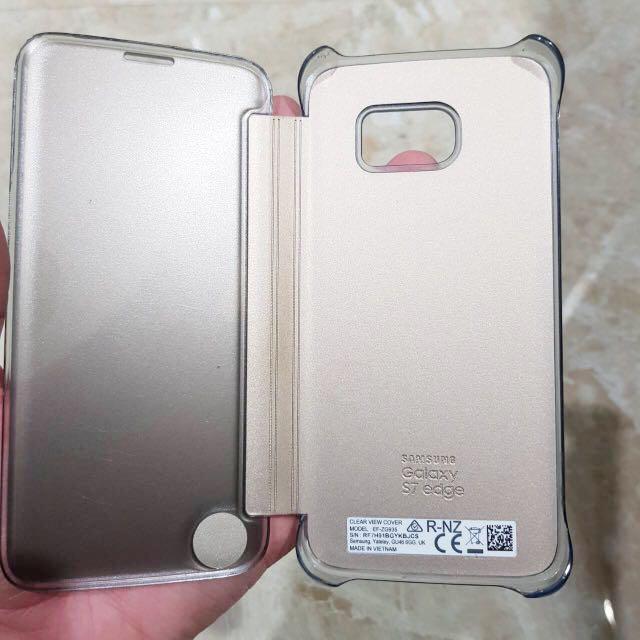Case S7 Edge ORIGINAL SAMSUNG Gold