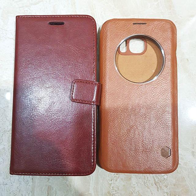 Case Samsung S7 Edge Kulit Sintetis