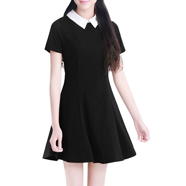 Black Dress with Collar
