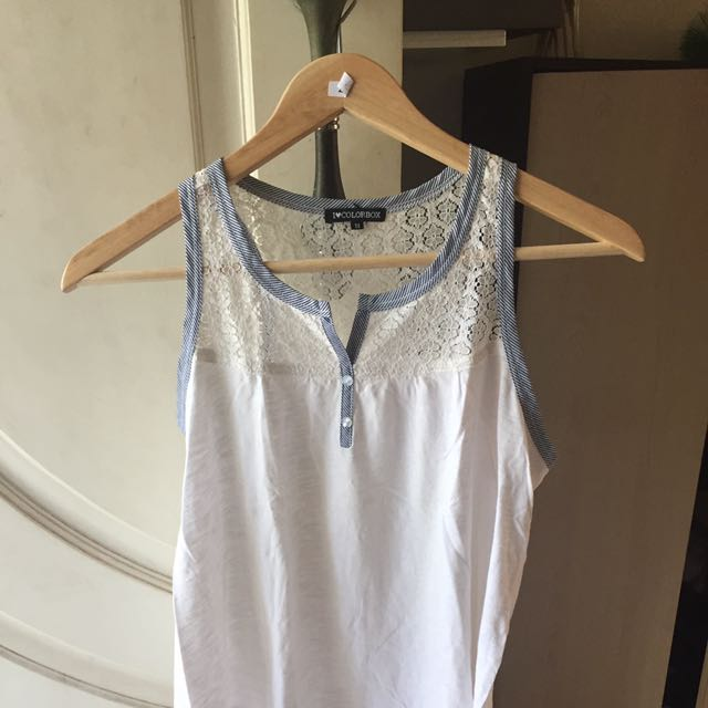 Colorbox: white lacey top