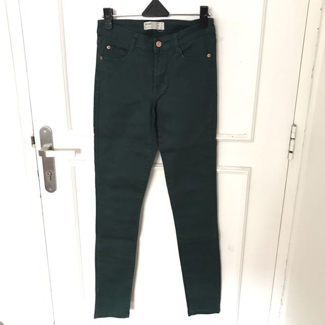 (NEW) Cotton On Color Jeans Army