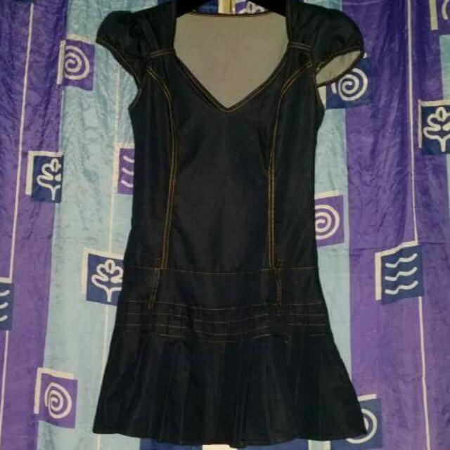 Denim Print Dress